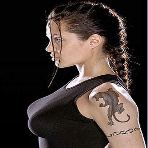 angelina jolie tattoo images angelina jolie panther tattoo tattooed ladies