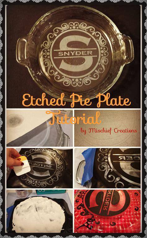 Etched Vinyl Projects - etched pie plate tutorial rock vinyl scissors