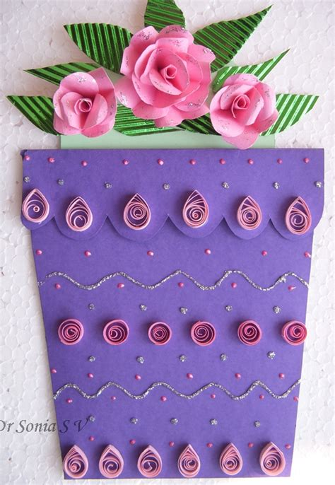 paper flower pot tutorial cards crafts kids projects flower pot card and tutorial