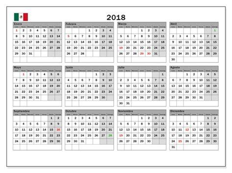 Calendario 2018 Semana Santa Mexico Calendario 2018 Mexico Con Feriados Para Imprimir