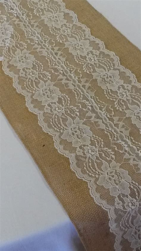 ivory lace runner burlap and lace burlapfabric com burlap fabric for