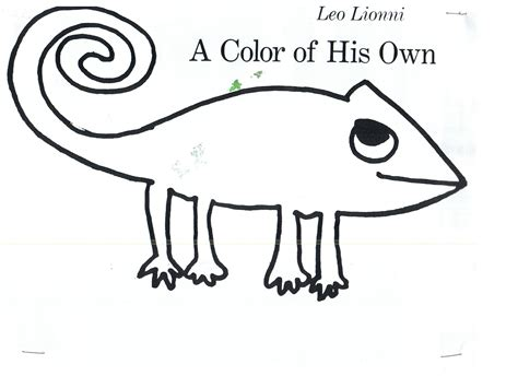 A Color Of His Own Chameleon Template