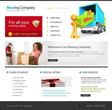 Moving Company Website Template 22365 It Company Website Template
