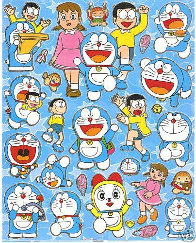 Sticker Stiker Anak Karakter Doraemon 7 sticker sheet cool doraemon characters
