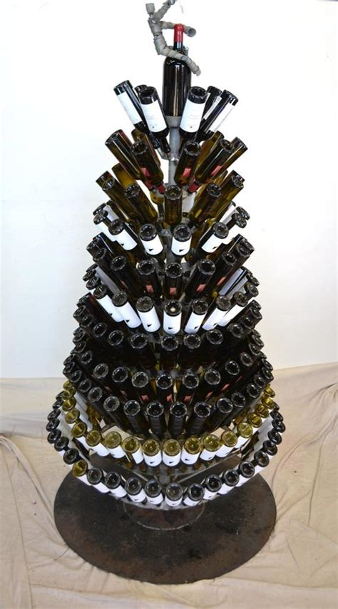 wine barrel christmas tree items similar to tree quot yulefest quot large wine barrel ring and bottle tree w wine bot