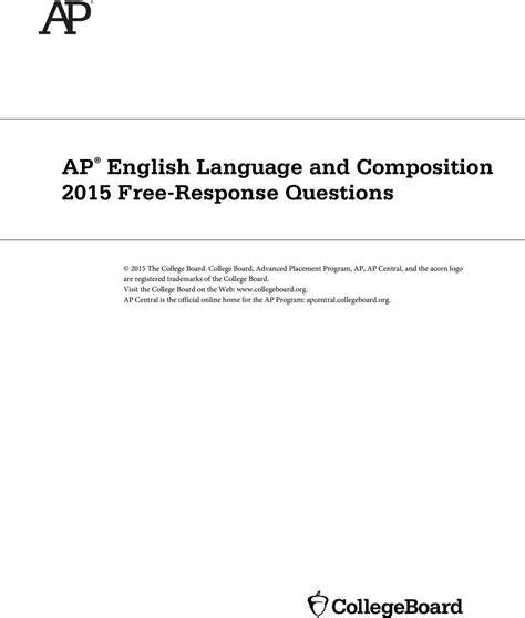english language and composition section 1 ap english language and composition 2015 free response