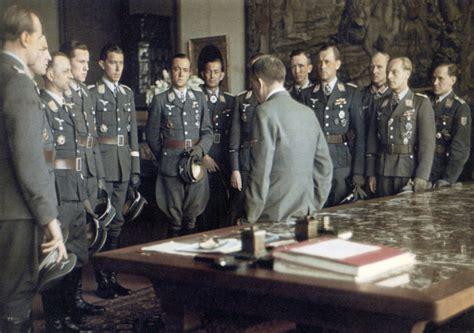 Eiffel Tower Floor Plan luftwaffe aces meet hitler after an awards ceremony at the