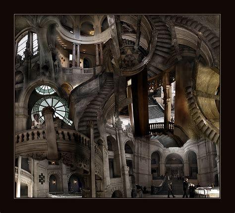 ilusiones opticas arquitectura artistas de la ilusi 243 n 243 ptica del arriba abajo en