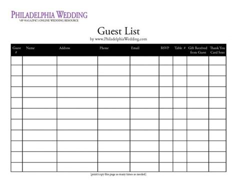 Wedding Planner Guest List by Wedding Guest List Organizer Wedding Planning
