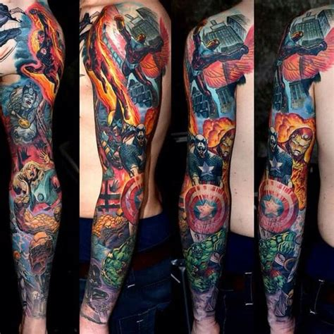 avengers tattoo sleeve 25 best ideas about marvel sleeve on