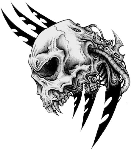 transparent tattoos tribal skull tattoos png transparent images png all