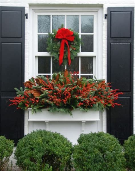 youtube how to decorate a christmas window box door decor the potted boxwood