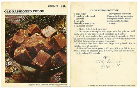 old fashioned recipe candy mccallum vintage recipe divas