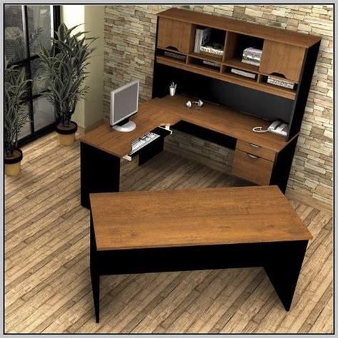 l shaped desk with left l desk with hutch left desk home design ideas