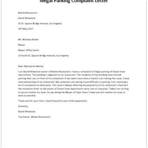 Complaint Letter Format For Illegal Construction Formal Official And Professional Letter Templates