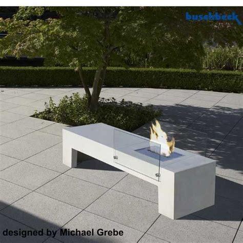 beton feuerstelle beton sitzbank und feuerstelle 90035 000 buschbeck