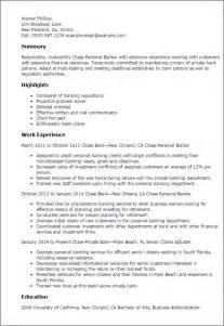 personal banker resume objective 1 - Personal Banker Resume Samples