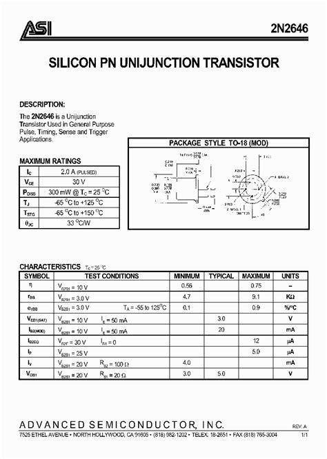 transistor c144 datasheet pdf 2n2646 1042088 pdf datasheet ic on line