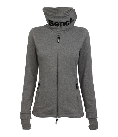 bench funnel neck jacket bench fast forward funnel neck sweat jacket in gray mid