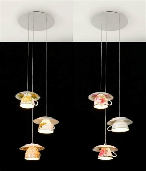 schöne leuchten dekorationsideen mit teetassen machen das innendesign