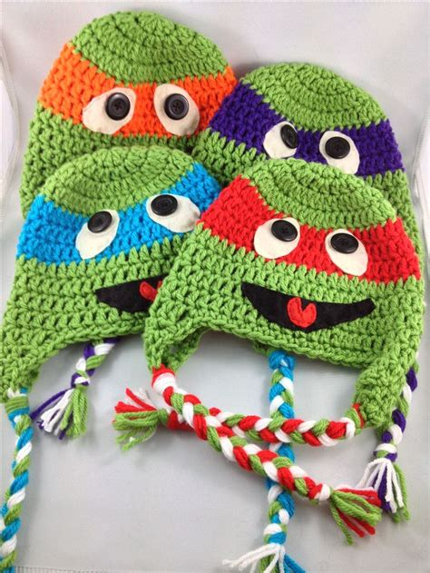 pattern for ninja turtle face 1000 images about crochet hats tmnt on pinterest