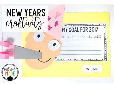 new year crafts early years new years craftivity grade made