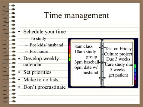 nursing time management template nursereview org study skills and test strategies for the