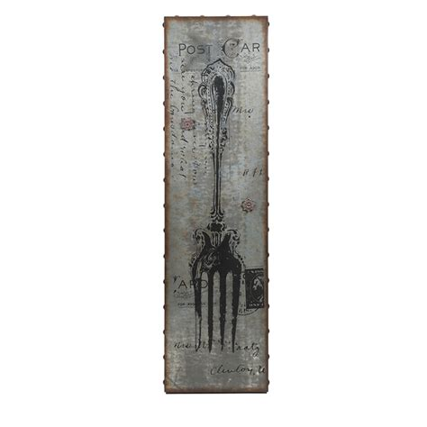 magnetic wall decor imax 89131 galvanized magnetic fork wall decor 93 60