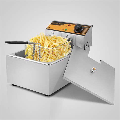 chip fryer 6l stainless steel basket single tank