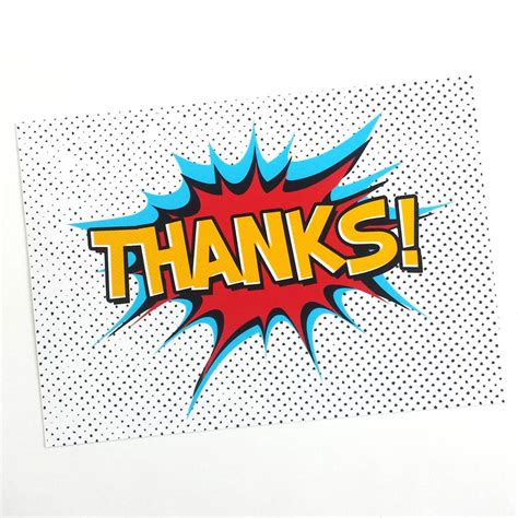 Gift Card Thank You - superhero thank you cards by of life lemons notonthehighstreet com