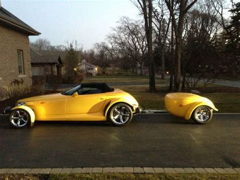 automobile air conditioning service 2002 chrysler prowler interior lighting sell used 2002 yellow chrysler plymouth prowler with trailer in chicago illinois united states