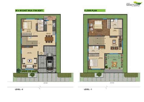 free house plan 30x40 site home design and style floor plan icon infra shelters pvt ltd icon