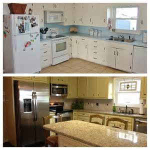 before and after kitchen remodel kitchen redo pinterest