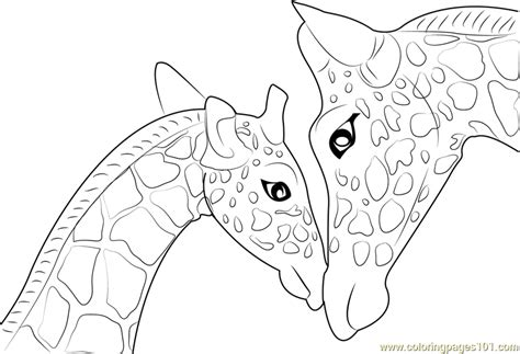 baby giraffe coloring page mother and baby giraffe coloring page free giraffe