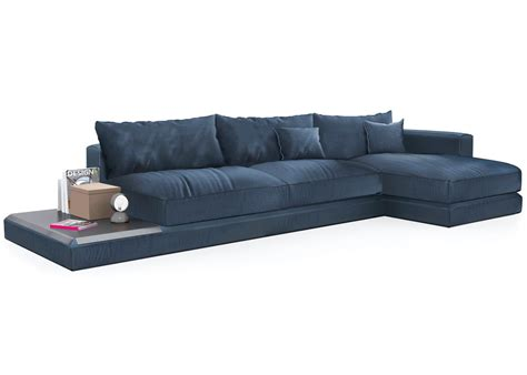 Calligaris Kora Chaise Sofa Inlcuding Leather Tray