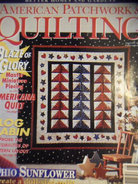 American Patchwork And Quilting Back Issues - american patchwork quilting august 1995 vol 3 no 4