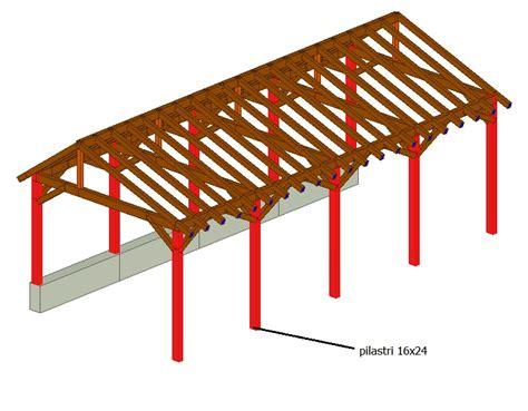calcolo tettoia in legno lamellare progettazione strutturale di un fabbricato in legno