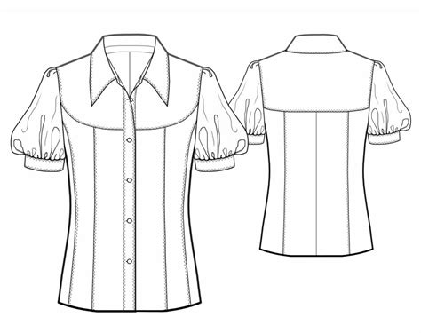 blouse sewing pattern 8004 made to measure sewing blouse with shaped yoke sewing pattern 5743 made to