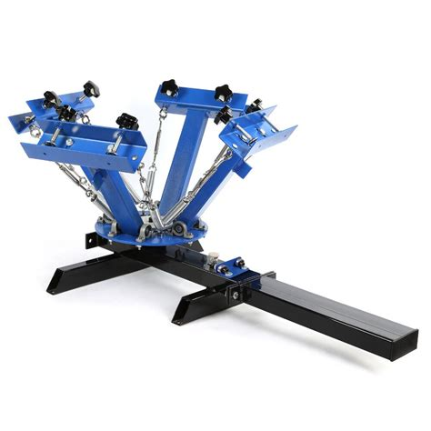 4 Color 1 Station Silk Screen Printing Machine Print