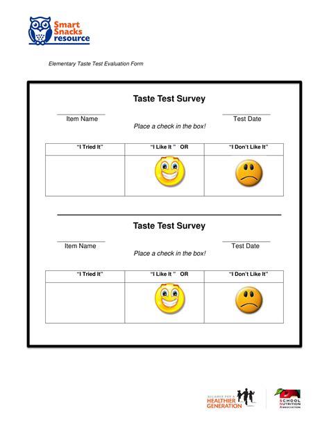 13 Food Evaluation Forms Free Word Pdf Format Download Taste Test Survey Template