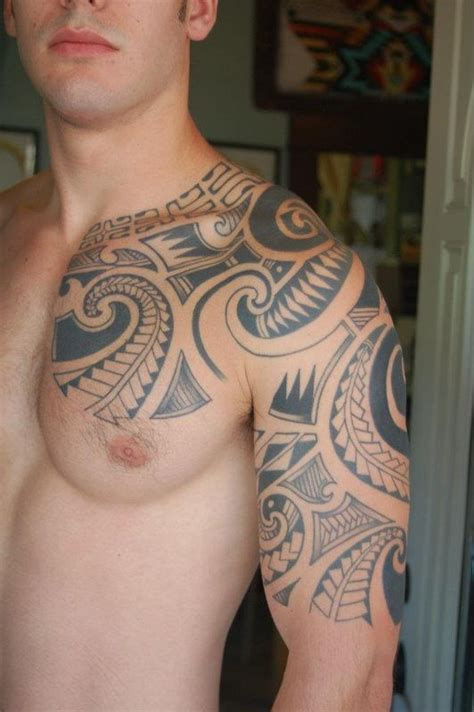tribal with color tattoo polynesian tribal and color tattoos now infinity