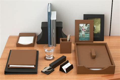 best leather desk accessories all home ideas and decor