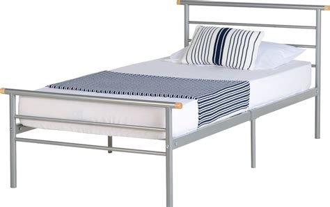 Single Size Bed Frame Metal Bed Frame In 3ft Single Size Ebay