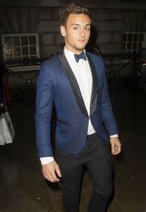 Jaspria Jas Exclusive Blue Formal tom daley cleans up in navy tuxedo for attitude magazine