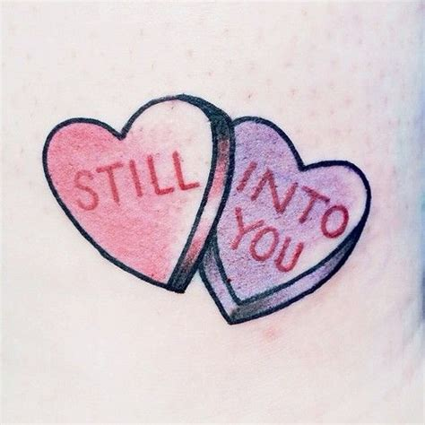 candy heart tattoo 1000 ideas about on