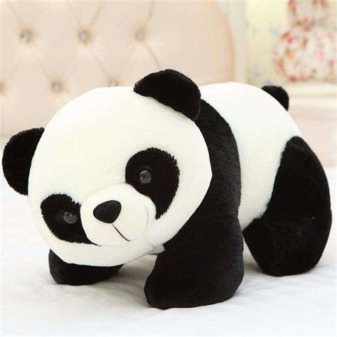 buy cute stuffed black and white panda plush animal soft