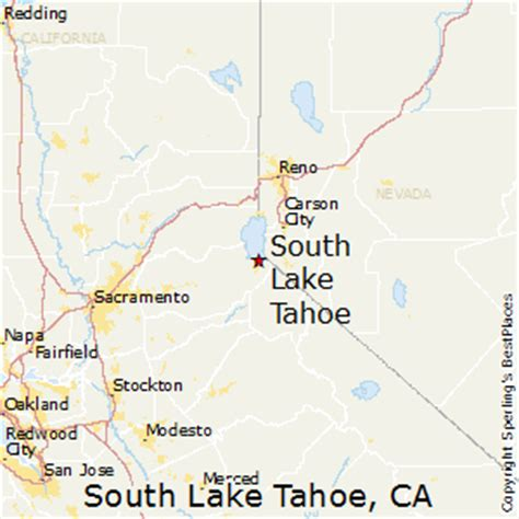 map of california lake tahoe best places to live in south lake tahoe california