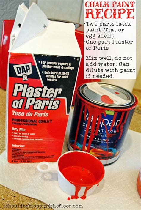 chalk paint recipe using plaster of paint chalk paint recipes and plaster of on