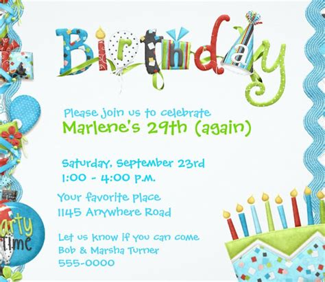 Birthday Invitation Cards For Adults Templates by Birthday Invitation Template 48 Free Word Pdf Psd