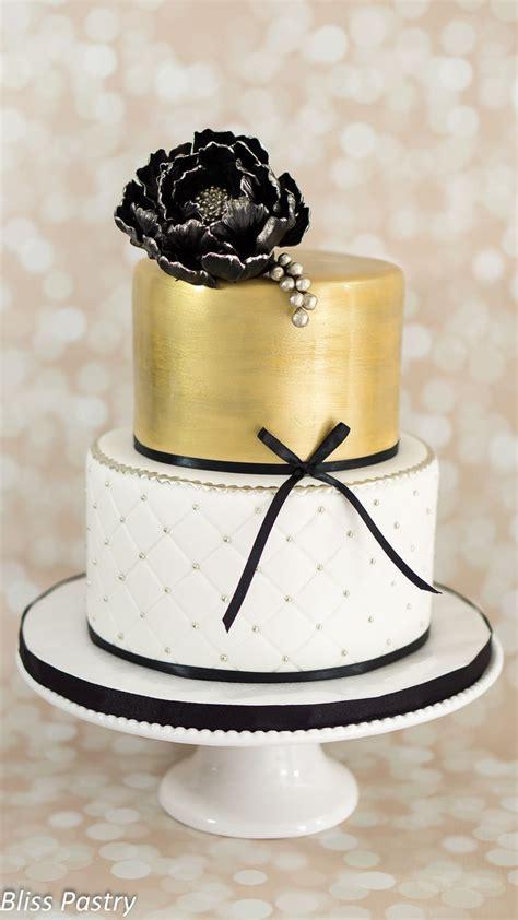 Best 25 Gold Birthday Cake Ideas On Pinterest Black And